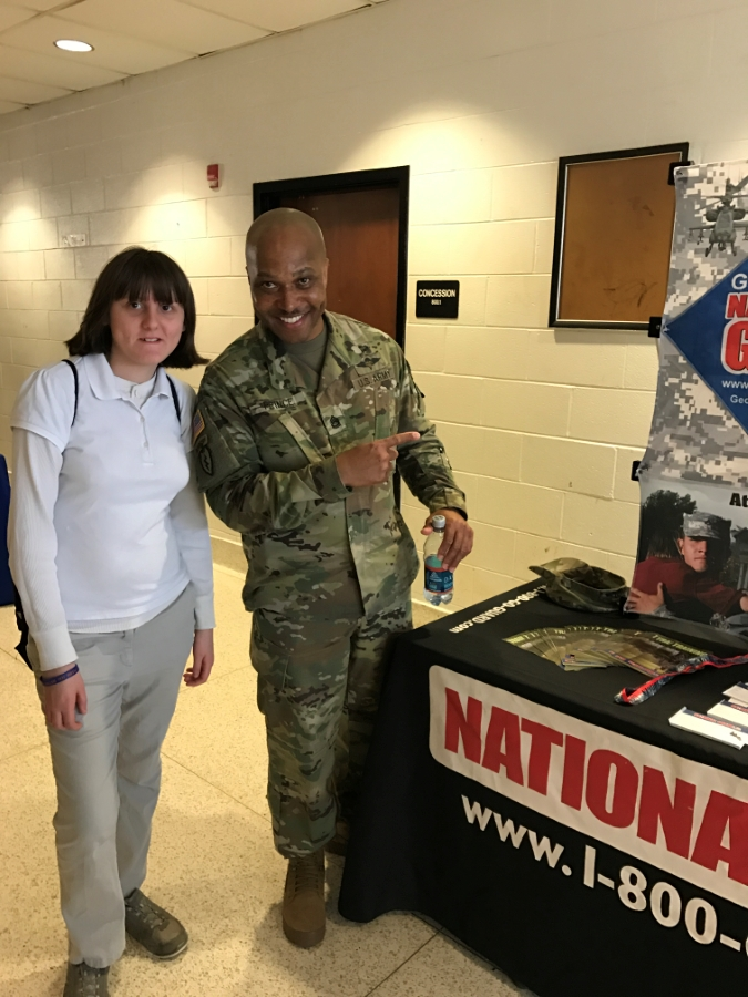 K. Scruggs Speaking with Army Representative
